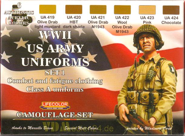 frank modellbau ist ihre top adresse rund um den modellbau lifecolor cs17 wwii us army uniforms. Black Bedroom Furniture Sets. Home Design Ideas