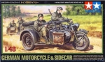 1:48 German Motorcycle & Sidecar, Tamiya 32578