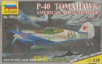 P-40 Tomahawk American WWII Fighter, Zvezda 7201, M 1:72 Modellbau USAF Rote Armee 2. WK