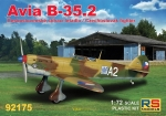 Avia B-35.2 Czechoslovak Fighter, RS Models, 1:72, (92175)