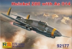 Heinkel 280 with As 014, RS Models, 1:72, (92177)