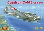"Caudron C-445 Goeland ""Vichy and Civil Service"", RS Models, 1:72, (92178)"