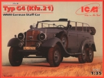 1:35 Typ G4 (Kfz.21) WWII German Staff Car, ICM 35538